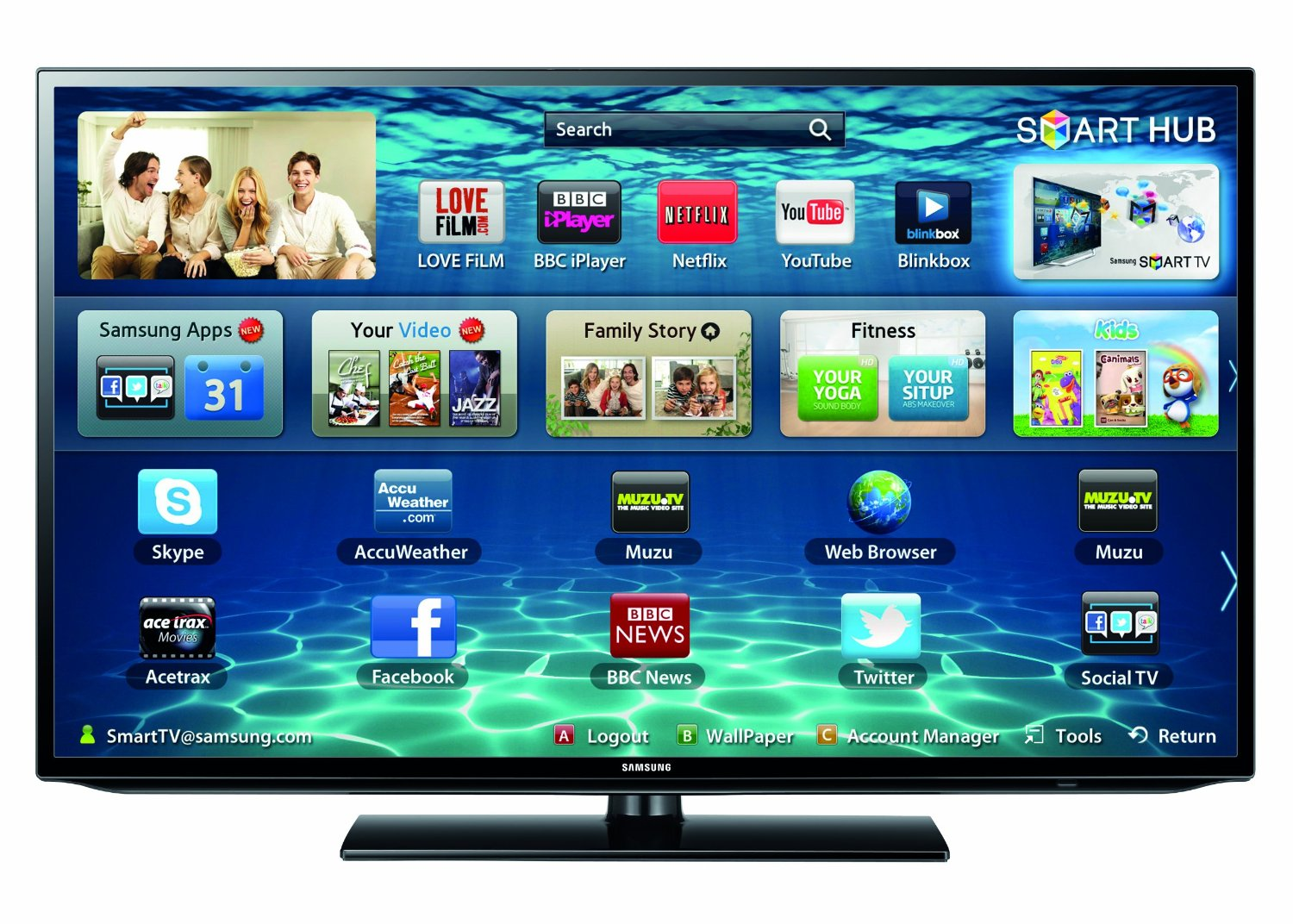 Samsung 32 81cm full hd 1080p smart led tv ioglasi for Immagini hd samsung