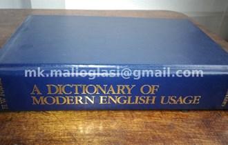 Rječnik: A Dictionary of Modern English Usage, engleski stilski rječnik