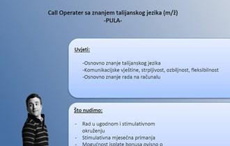 Tražimo djelatnike za rad u call centru u Puli