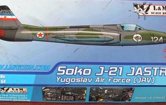 Maketa avion Soko J-21 Jastreb