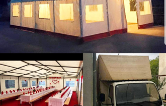 Najam šatora, klupa, frižidera, suncobrana, pribora za jelo