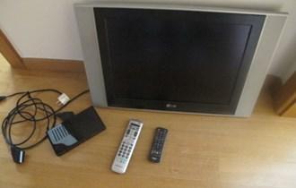 LCD LG 51cm+dvbt tuner Quadro,USB,scart kabel,2 daljinska
