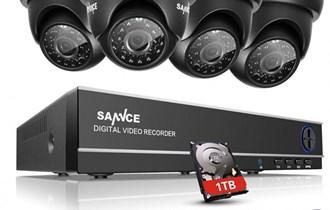 HD VIDEO NADZOR KOMPLET 4 HD KAMERE + HD SNIMAČ + 1TB DISK + KABLOVI