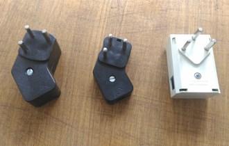 Tropolni tlefonski utikači s RJ11 utičnicama, 3 komada