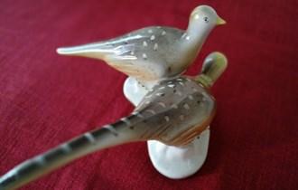 dekoracija za dom - figura dvije lijepe ptice