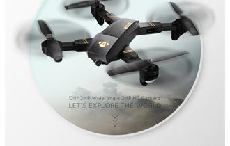 Dron 2MP kamera wifi fpv uzivo prijenos 2017g novo