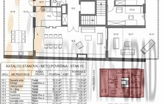 TREŠNJEVKA KOD CIBONE-Novogradnja -Lux5s  penthouse sa garažom.