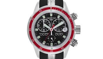 Certina Mens DS Blue Ribbon Black Dial Chronograph Quartz Watch