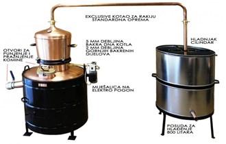Ekskluziv 200 litara kotao za rakiju - profesionalni kotao za destilaciju i pečenje rakije