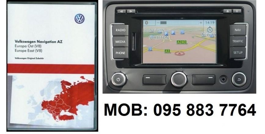 RNS 315 VW NAVIGACIJSKA SD KARTICA V8 2016 (ŠKODA, SEAT