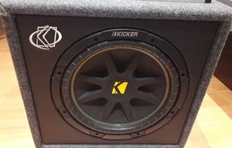 Subwoofer Kicker 10VC124, Pojačalo ESX-300.2 i pojačalo Mac Audio Micro