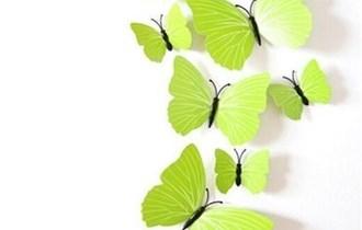 Naljepnice za zid - Zidna naljepnica - 3D Leptirići - model 5
