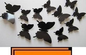 Naljepnice za zid - Zidna naljepnica - 3D Leptirići - model 25
