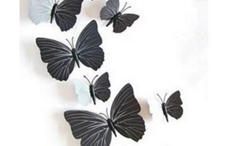 Naljepnice za zid - Zidna naljepnica - 3D Leptirići - model 4
