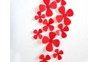 Naljepnice za zid - Zidna naljepnica - 3D Cvijetići - model 8