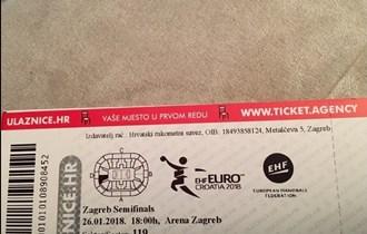 4 tickets for semifinal ehf euro handball croatia