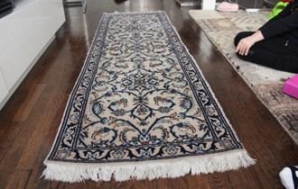 Perzijski tepih - Nain - cca 190x59cm - Vuna + Svila - Vrlo fini rad