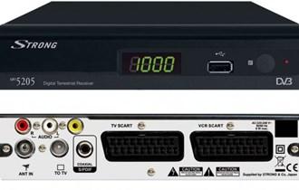 DVBT digitalni receiver za programe Strong SRT5205,USB,daljinski,hr meni,potpuno ispravno,scart x2, saljem i postom !
