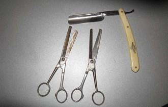Prodajem antikni frizersko-brijaći pribor sa slika