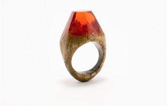 Epoxy resin drveni prsten ručne izrade