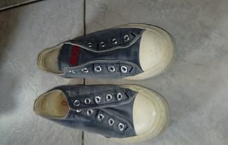 Converse All Star tenisice, br. 36, niske , sive , 5 rupica , platnene