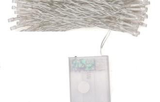 Božićne lampice, LED, topla bijela, 10m, 100 LED žaruljica, baterijsko napajanje