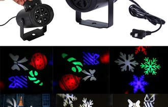 LED projektor pokretne pahuljice
