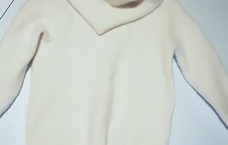 Pulover bijeli vuneni za djevojčice, Benetton br. 140-146