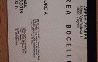 Ulaznice za koncert Andreae Bocelli