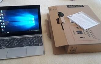 "Tablet - Lenovo miix 320, 128GB, intel atom, 4GB ram, 10.1\"" FHD. Novo"