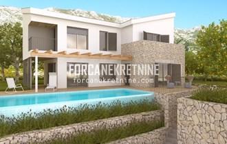 KRILO JESENICE - Kuća s bazenom na atraktivnoj lokaciji s panoramskim pogledom na more (K061)