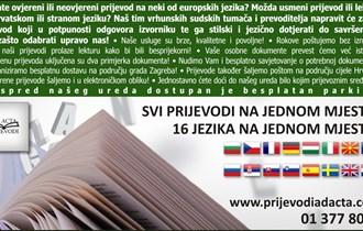 Sudski tumač - prevoditelj Ad Acta prijevodi