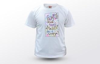 Guard your happy place like a ninja, Ženska dječja majica, 100% pamuk, tisak na majice, print na majice