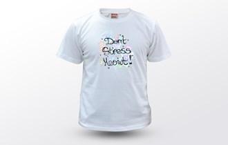 Mačka dont stress meowt, Ženska dječja majica, 100% pamuk, tisak na majice, print na majice