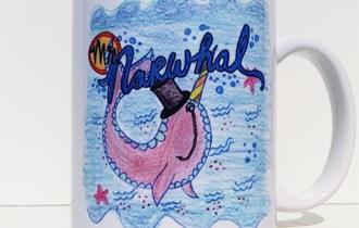 Mr Narwhal Jednorog, 330ml, otporna na perilicu posuđa i mikrovalnu, print na šalice, tisak na salice