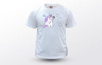 Jednorog Dreams are made of unicorns and candy, Ženska dječja majica, 100% pamuk, tisak na majice, print na majice