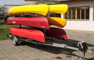 Prikolica za prijevoz kanua + gumenjaka