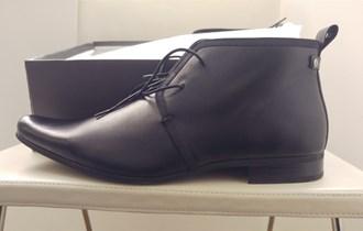 HALLAND muške crne kožne visoke cipele gležnjače 46 - 47 NOVO