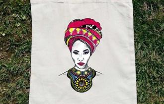 Afrika Afrikanka Afrička Umjetnost #3 pamučni ceker, 100% pamuk