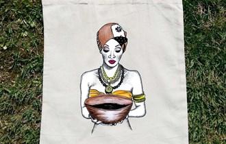 Afrika Afrikanka Afrička Umjetnost #4 pamučni ceker, 100% pamuk