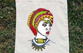 Afrika Afrikanka Afrička Umjetnost #5 pamučni ceker, 100% pamuk