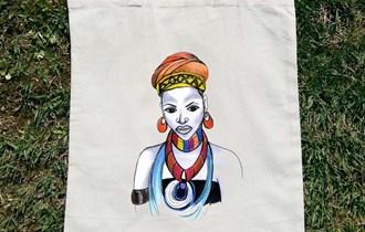 Afrika Afrikanka Afrička Umjetnost #7 pamučni ceker, 100% pamuk