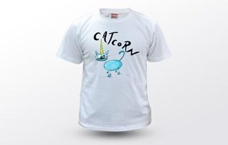 Catcorn Plava Mačka Jednorog Ženska dječja majica, 100% pamuk, tisak na majice, print na majice