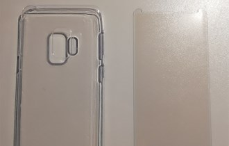 Samsung S9 silikonska maska + kaljeno staklo NOVO