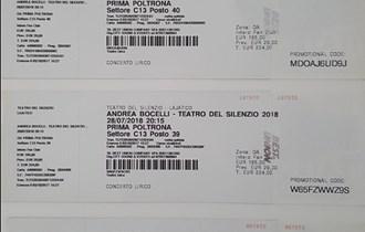 Karte za koncert Andrea Bocelli, Teatro Del Silencio, 28/07/2018