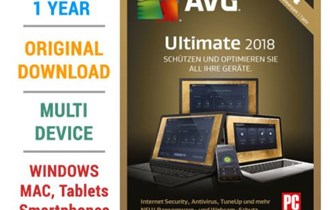 AVG Ultimate - Unlimited Devices 1 Year AVG Key GLOBAL