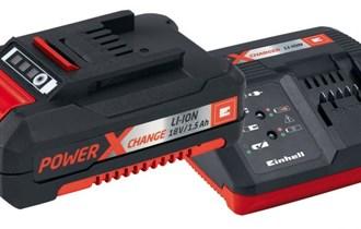 Einhell Power X-Change set punjač 30min i baterija 1.5 Ah (novo)