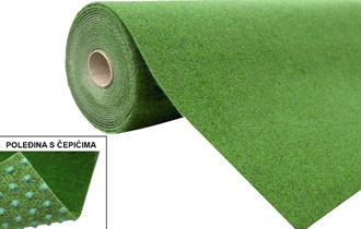 Tepih umjetna trava sa čepovima! NOVO!