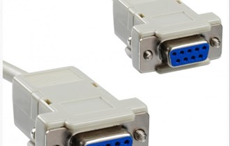 Female to Female NM-220 Null Modem DB9 kabel