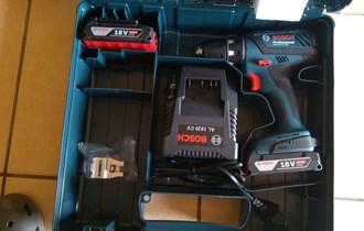 BOSCH aku bušilica-izvijač GSR 18-2 Li Plus , 2xAku 18V 2,0Ah , kovčeg